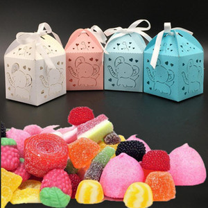 New 5*5*8cm 10pcs pack Paper Children Candy Boxes Home Birthday Party Creative Gifts Storage Box 6 Colors 8A2174