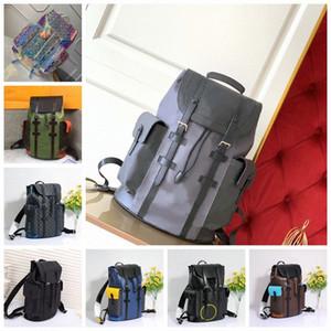 2020 Fashion Shows Designer-Luxury MensChristopher Pm backpacks Oxy Leather bagsmonogram bag Business Totes Messenger Pocket o8Bq#