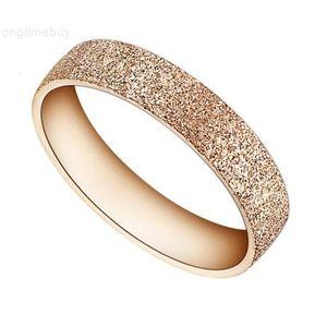 Moda de ouro Rose Titanium Arenaceous Aço Jóias Moagem MS Titanium Steel Ring