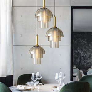 Ceiling Glass Ball Chandelier Pendants Lamp Bedside Hanging Lights Suspension Lighting Modern Kitchen Island Loft Glass Lamps