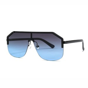 Conjoined Lens Square Sunglasses 2020 New Sunglasses Fashion Street In Europe and America