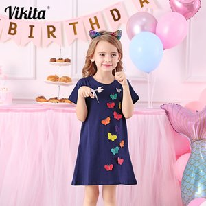 VIKITA 4-8Y Dress for Girls Baby Girl Children Tutu Dresses Princess Party Dresses Casual Vestidos Kids Girls Clothes SH5868 F1207