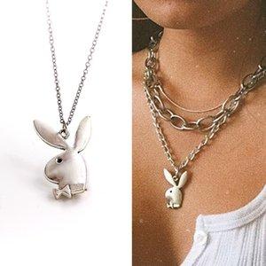 Schönes Spiel Kaninchen Charm Ketten Frauen Lustige Tiere Kleiderbügel Kette Mann Gentleman Schmuck Drop Ship