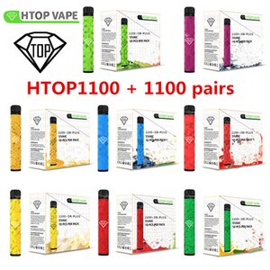 HTOP1100+1100 latest double port Disposable Vapes Device Pod Kit 2200 puffbars 6.5ml Cartridges Vape Empty Pen Flavs Vape Cart Packaging