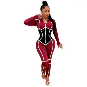 Diseñador para mujer Romper Slim Designer con capucha Womens Sumpsuits Fashion Contrast Color Color Skinny Ropa Sexy paneleled
