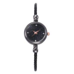 Fashion casual Alloy wire rope Gypsophila Small fresh Simplicity diamond One-piece buckle luxury dress Ms Bracelet watch