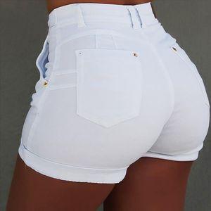 Womens shorts denim belt pocket ladies shorts solid color casual fashion cloth female summer denim new arrivals G7