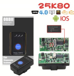 Neue Mini-ELM 327 Bluetooth-Auto-Detektor mit Netzschalter 25K80 ELM327 V1.5 OBD2-Schnittstellen-Scan-Tool für iOS Android