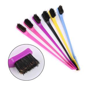 الجمال مزدوجة الجانب حافة الشعر مشط التحكم فرشاة الشعر لتصميم صالون الملحقات المهنية فرشاة الشعر لون عشوائي