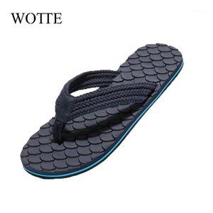 Wotte Flip Flops Hommes Chaussures Été Mode Menseurs Pantoufles Coréen Diapositives non glissades Personnalité Plage Plage Chaussures Mens House1