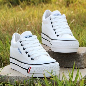 Women Hidden Heel Platform Wedge Canvas Shoes Outdoor Breathable Trainers Female Sneakers Woman Casual Shoes LJ200812