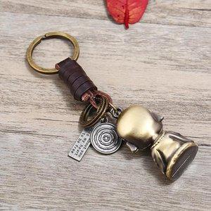 Pendentif voiture Vintage Keychain Buddha Statue Keychain Pendentif cadeau Beau Beau porte-clés haute qualité simple mignon zinc alliage
