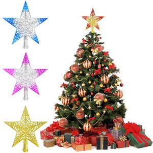 Christmas Tree Top Sparkle Stars Hang Xmas Decoration Ornament New Year 2021 Home Decor Treetop Topper