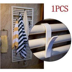10pcs High Quality Hanger For Heated Towel Radiator Rail Bath Hook Holder Clothes Hanger Percha Plegable Scarf white