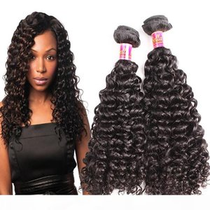 Bella Hair? Indian Curly Wave Hair Weaves Weft Human Hair Bundles Unprocessed Virgin Hair Extensions 8~30in 3 Bundles Free Shipping