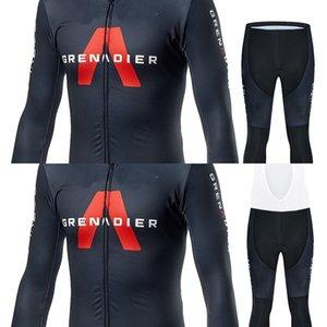 2020 Inéos Grenadier Jersey Cycling Jersey Set Hommes Pro Team Vêtements à manches longues Veste à manches longues Course Uniformes Winter Thermone Thermone Uniforme C0128