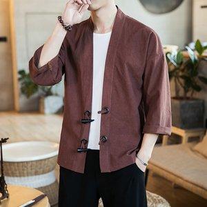 Primavera / verano 2020 Nuevo estilo chino Cardigan Fool Poel Fashing Moda Moda Marca Kimono Abrigo