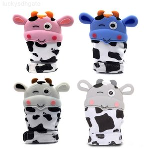 Mitts Unisex Bonito Baby Baby Baby Grade Mitten Beething Luva Som Toys Cow Silicone Luvas Teether