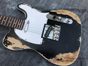Yeni Stil Elektro Gitar, El Yapımı Ağır Relic Gitar.ash Ahşap Vücut Kapitone Akçaağaç Boyun Stokta