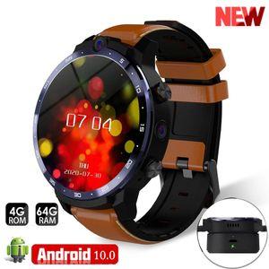 Lemfo Lem12 LEM12 LTE 4G Smart Watch Dual Camera Support Face ID بطاقة SIM WIFI GPS 3GB 32GB الرجال ووتش Andorid 7.1 1800mAh البطارية