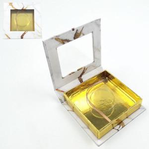 Falsche Wimpernverpackung Square Box-Papier mit vielen Stilen und Farben für OP Lash-Box-Verpackung 25mm Minkeyelash-Boxen Pestañas