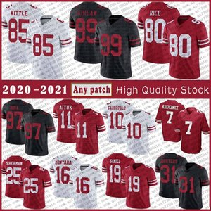 85 George Kittle 10 Jimmy Garoppolo Football Jersey 97 Nick Bosa 11 Brandon Aiyuk Richard Sherman Jerry Rice Joe Montana Deebo Samuel Raheem Mostert Colin Kaepernick