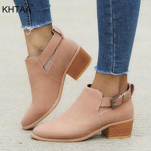 Khtaa Plus Size Pumps Mid Heels Frauen Schuhe Damen Schnalle Hohl Clog Sohle Für Frau Mode Frau Atmungsaktiv Freizeitschuhe1