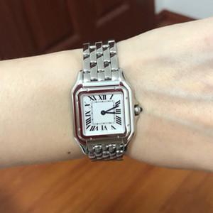 새로운 WSPN0006 WSPN0007 스틸 케이스 27mm / 22mm 화이트 다이얼 스위스 쿼츠 여자 시계 숙녀 스테인레스 스틸 시계