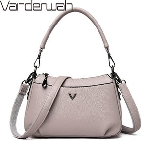 New High Quality Soft Leather Crossbody Bags For Women Luxury Handbags Women Bags Designer Ladies Hand Shoulder bags Sac A Main 201204
