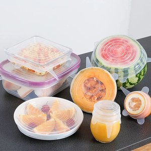1 Set Of 6 Pieces Set Of Silicone Stretch Suction Pot Lid, Food Grade Plastic Wrap, Sealed Lid, Kitchen Tool Accessories