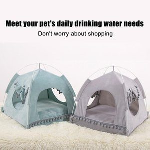 Pet for Cats Dogs Soft Nest Kennel Bed Cave House Sleeping Bag Removable Mat Pad Tent Pets Winter Warm Cozy