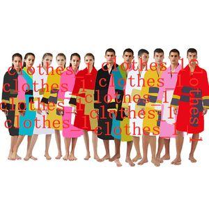 Mens Sleepwear Roupões Roupões Unisex 100% Algodão Night Robe Boa Qualidade Sono Vestuário Moda Luxo Robes Respirável Elegante Mulheres Roupas 1739