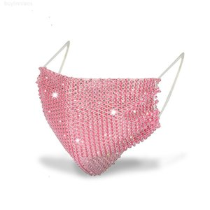 VIQ2 Malha Flash Rhinestone para Mulheres Trendy Holloween Mask Jóias Sênior de Luxo