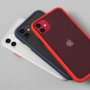Mint Hybrid Simple Matte Bumper Funda para teléfono para iPhone 12 11 Funda Pro Max XR XS 6S 8 7 PLUS PULS AURSPONIBLE SOFT TPU Silicone Funda