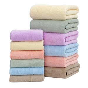 2Pcs Set Soft Comfortable Microfiber Towel Coral Fleece Bath Towels Water Absorption Face Towel For Shower Bathroom Accessories