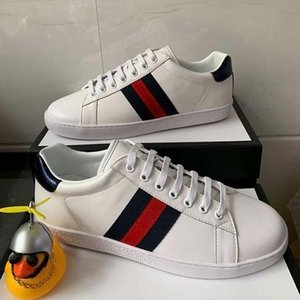 2020 Top Designer Mens Shoes With Original Women Luxury Designer Sneaker Man Casual Ace Shoes Green Red Stripe size 35-46q4