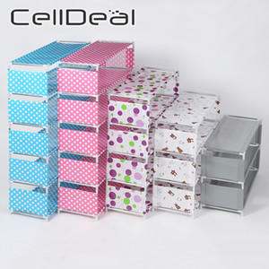 CellDeal 3 4 5 6 Layers DIY Shoe Rack Non-woven Fabric Dustproof Cabinet Organizer Holder Stand Shoes Shelf Shoe Organizer Y1128