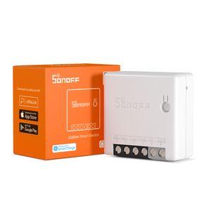 Sonoff Zigbee Mini Twood Smart Switch Mode DIY Compatible avec Sonoff ZBbridge, Hub Amazon, Hub Samsung Smarthings
