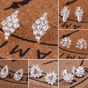 Promotion Brincos Bijoux Geometric Crystal Stud Earrings for Women Square Earring Fashion Jewelry Wholesale Price