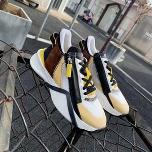 Erkekler Akış Sneaker Runner Eğitmenler Üst Süet Deri Ayakkabı Örgü Fermuar Sneaker En Kaliteli Kadınlar Açık Rahat Ayakkabılar Kutusu ile 259