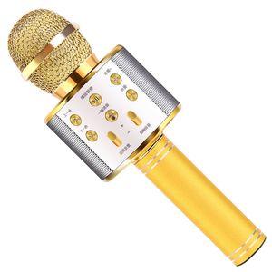 Hot 2020 New Bluetooth Karaoke Wireless Professional Speaker Handheld Microphone Player Singing Artifact Recorder Integrated Microphone