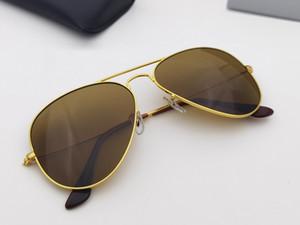 Verkauf Klassischer Metallrahmen Glas Objektiv Pilot Sonnenbrille Männer Frauen Vintage Design Oculos de Sol Masculino Gafas 58mm 62mm mit Zubehör