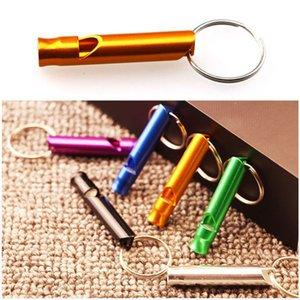Mini Whistle Keychain Keychain Chiens Entraînement Keychain Sifflet Randonnée en plein air Survie Portable Survival Petit Whistle Porte-clés Personnalisé
