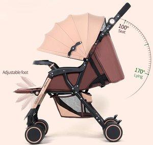 Carrinho de criança Bebaby pode sentar-se deitar para baixo carrinho de bebê luz dobrável quatro carrinhos de meninos de carrinho de troles de rodas
