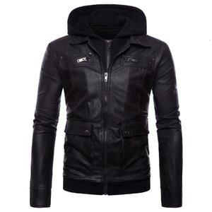 2021 Новые осенние повседневные куртки из циклонного циклона мужские ложные части с кожаной курткой 10VG