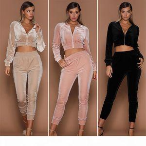 Women Sportswear Suit Corduroy Long Sleeve Sweatshirt + Pants Two-piece Set Women Jogging Sport Suit for Ladies Leisure Tracksuit Plus Size