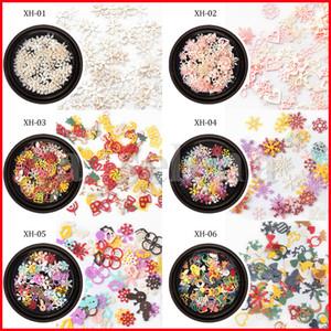 Mélangez les styles Saisissements à ongles pour manucure DIY Noël Halloween Flower Butterfly Snowflower Candy Cadeau Cadeau Nail Bijoux Décoration
