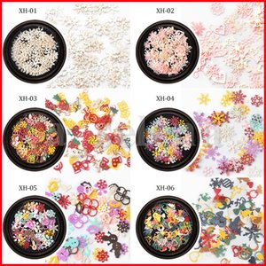 Mix estilos Nail Art Lantejoulas para Manicure DIY Christmas Floween Flor Borboleta Snowflower Doces Presente Decoração de Jóias