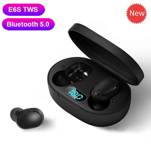 New E6S Wireless Headphones Bluetooth Handsfree Stereo Bluetooth Earphone with Mic PK i9S i12 TWS for Redmi Airdots Dropshipping