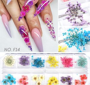 Nail Stickers Real Natural Dried Flowers Nail Art Kit Supplies 3d Applique Nail Decoration Sequins Glitter Decals wmtwlF comb2010